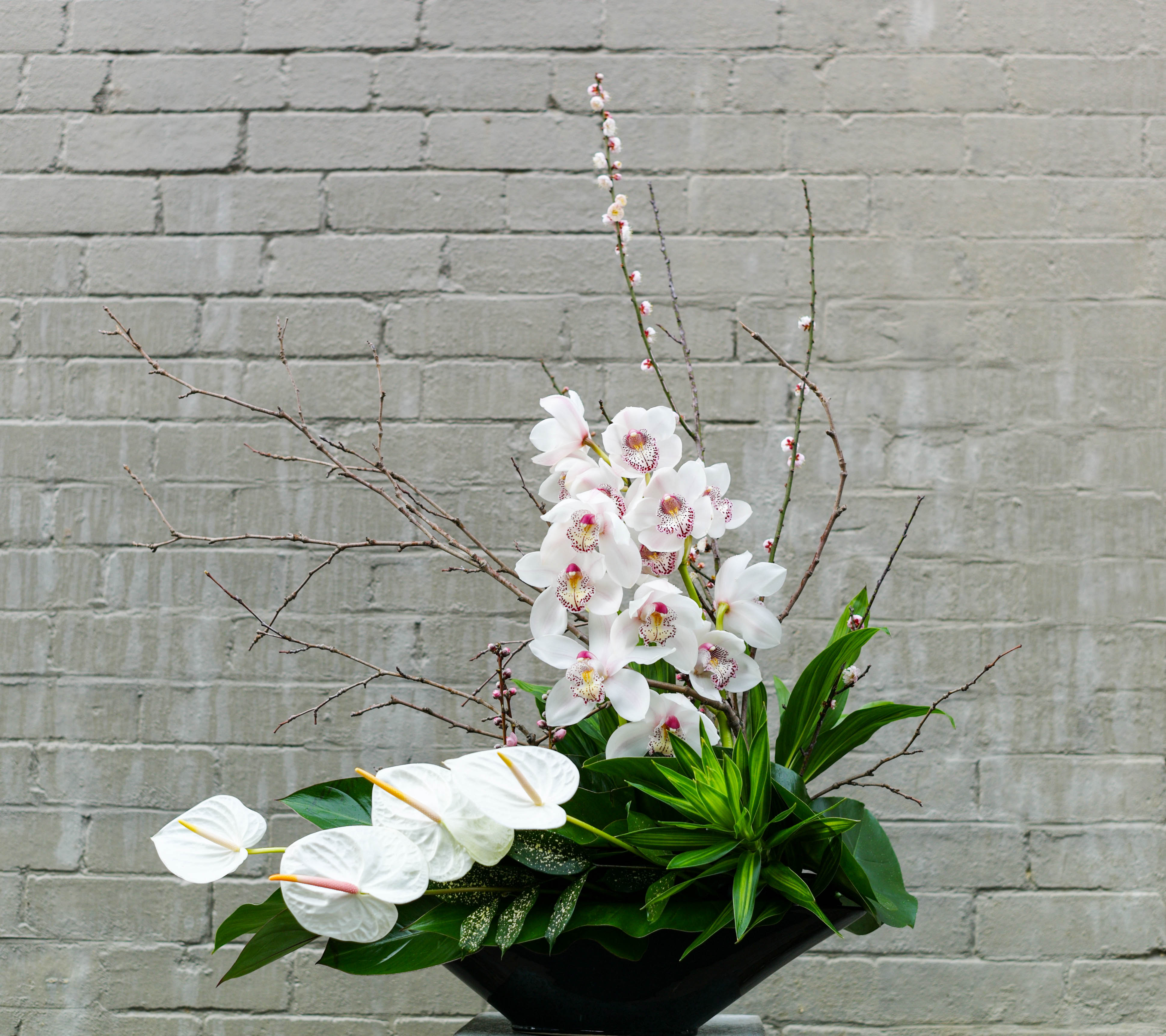 Contemporary flower arrangement