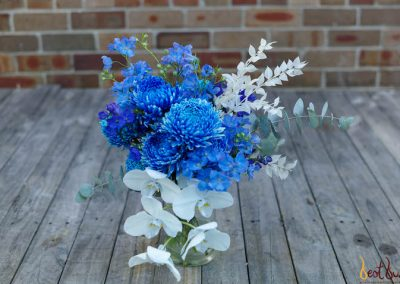 Bridal Bouquet Blue and White