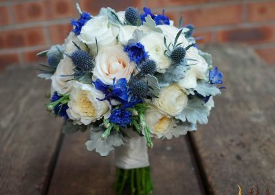 Bridal Bouquet Champagne and Blue