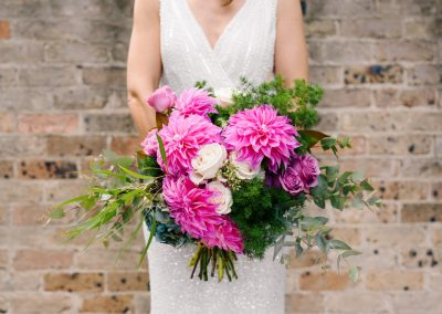 Bridal Bouquet Dahlia Hot Pink