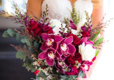Bridal Bouquet Orchid Burgundy_755