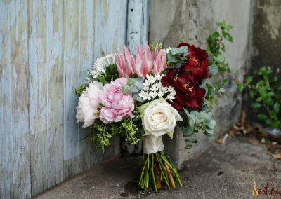 Bridal Bouquet Rustic King Protea