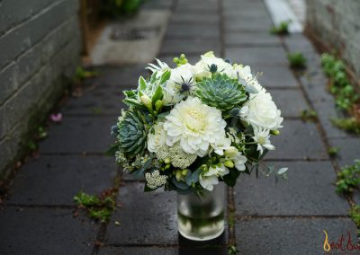 Bridal Bouquet Succulent White