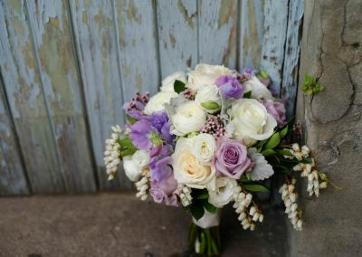 Bridal Bouquet White and Lilac