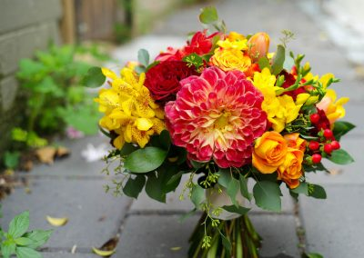 Bridal Bouquet Yellow and Red