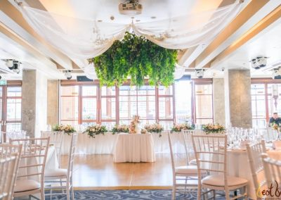 Bridal Table Dockside Foliage Chandelier