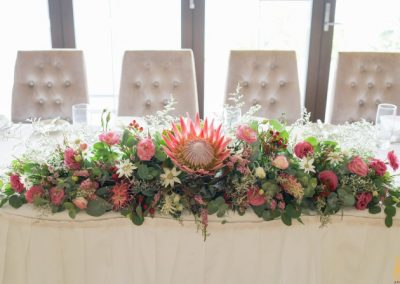 Bridal Table Sergeants Mess Native Flowers