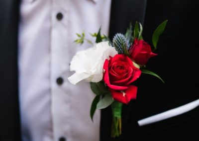 Buttonhole red and white