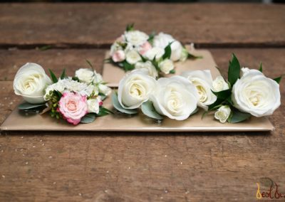 Buttonhole white and blush pink