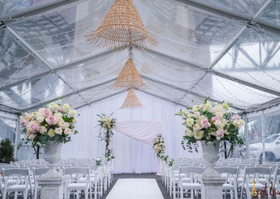 Ceremony Arrangement Pier One Marquee