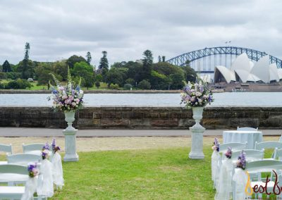 Ceremony Arrangement Sydney Botanic Gardens Harbourview Lawn