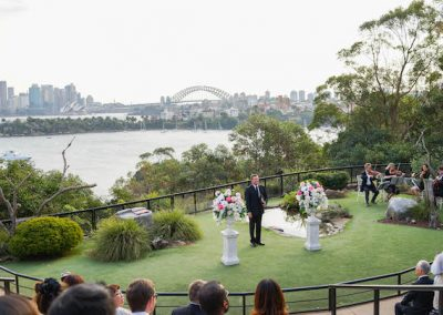 Ceremony Arrangement Taronga Zoo Bird Amphitheatre
