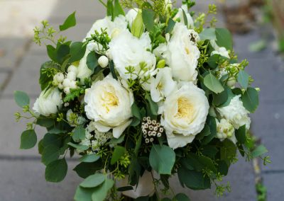Bridal Bouquet White Semi Structured